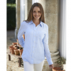 Schoffel Ladies Saunton White-Blue Stripe Linen Shirt 2