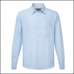 Schoffel Thornham White-Blue Stripe Linen Shirt 1