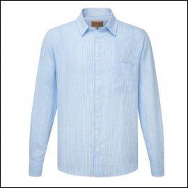 Schoffel Thornham White-Blue Stripe Linen Shirt 1