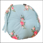Ascalon Blue-Floral Round Seat Cushion Pad 1