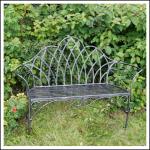Ascalon Edwardian Garden Bench Seat Black-Silver 1