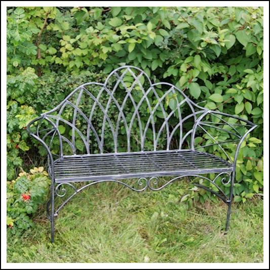Ascalon Edwardian Garden Bench Seat Black Silver