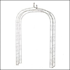 Ascalon Gothic Arch Garden Structure Rust 1