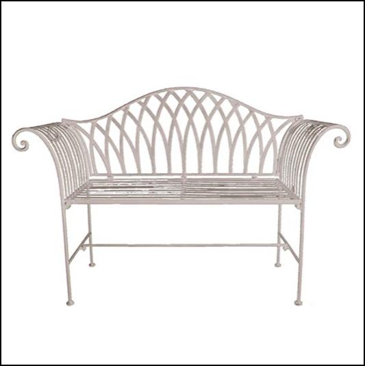 Ascalon Kings Garden Bench Seat Cream 1