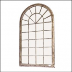 Ascalon Large Arch Garden Window Mirror 1