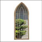 Ascalon Large Gothic Arches Garden Window Mirror 1