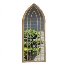 Ascalon Large Gothic Arches Garden Window Mirror 1