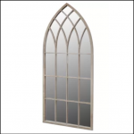 Ascalon Large Gothic Stone Garden Window Mirror 1