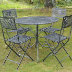 Ascalon Marlborough Tea for Four (5pc) Dining Set Black-Silver 1