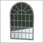 Ascalon Small Arch Garden Window Mirror 1