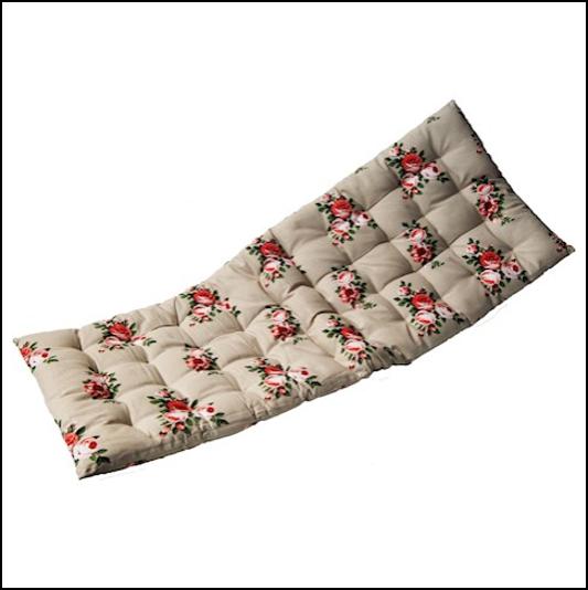 Ascalon Stone-Floral Bench Seat Cushion Pad 1