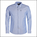 Barbour Oxford Stripe 1 Blue Tailored Shirt 1