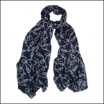 Barbour Rope Print Wrap Royal Blue & White 1