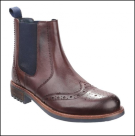 Cotswold Cirencester Dark Brown Chelsea Brogues 1