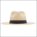 Joules Dora Natural Fedora Sun Hat French Navy 1