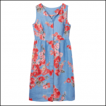 Joules Lisia Blue Floral Linen Dress 1