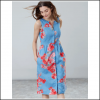 Joules Lisia Blue Floral Linen Dress 2