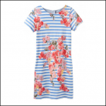 Joules Ottie Blue-Stripe Floral Shift Dress 1
