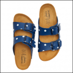 Joules Penley Dark Blue Spot Slider Sandals 1