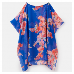 Joules Rosanna Beach Cover Up Blue Floral 1