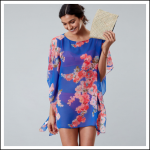 Joules Rosanna Beach Cover Up Blue Floral 2