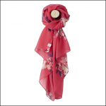 Joules Wensley Raspberry Bloom Print Longline Scarf 1