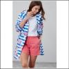 Joules Golightly Packaway Waterproof Jacket Blue Stripe Floral 2