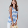 Joules Juliette Sleeveless Blue White Stripe V Neck Top 2