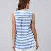 Joules Juliette Sleeveless Blue White Stripe V Neck Top 3