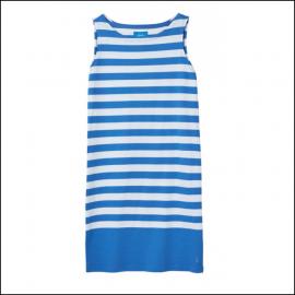 Joules Riva Blue White Stripe Sleeveless Jersey Dress 1