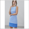 Joules Riva Blue White Stripe Sleeveless Jersey Dress 2