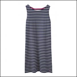 Joules Riva Navy Cream Stripe Sleeveless Jersey Dress 1Joules Riva Navy Cream Stripe Sleeveless Jersey Dress 1