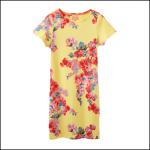 Joules Riviera Lemon Floral Print Jersey Dress 1