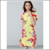Joules Riviera Lemon Floral Print Jersey Dress 2