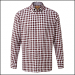 Schoffel Sandbanks Fig Check Linen Shirt 1