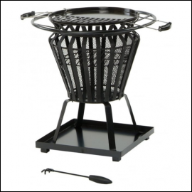 Signa Steel Fire Basket with BBQ Grill 1