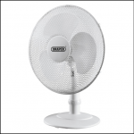 Draper 09111 White Desk Fan 16″