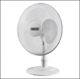 Draper 09111 White Desk Fan 16 inch