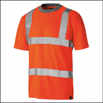 Dickies High Visibility Orange Safety T Shirt 1