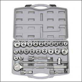 Draper 26pc 3Qtr inch Square Drive MM-AF Combined Socket Set 1