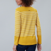 Joules Harbour Gold Stripe Dog Embroidered Jersey Top 2