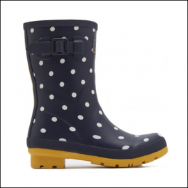 Joules Molly French Navy Spot Mid Height Printed Wellies 1
