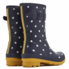 Joules Molly French Navy Spot Mid Height Printed Wellies 2
