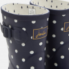 Joules Molly French Navy Spot Mid Height Printed Wellies 3