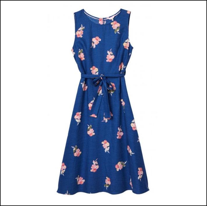 8cd28b1e4798a Joules Fiona Blue Posy Woven Dress | Ernest Doe Shop
