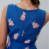 Joules Fiona Blue Posy Woven Dress with Tie Detail 3