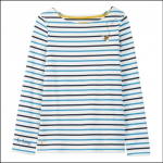 Joules Harbour Buzzing Bee Stripe Embroidered Jersey Top 1