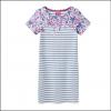Joules Riviera Blue Floral Stripe Print Dress 2