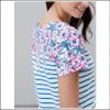 Joules Riviera Blue Floral Stripe Print Dress 3