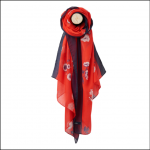 Joules Wensley Red Floral Print Longline Scarf 1